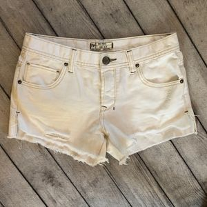 Free People Women's White Shorts, Size 27